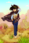 Ryoga, the Boy Without a Map (gunslinger) by AndronicusVII