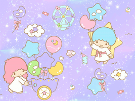 animated little twin stars wp by magicmoons