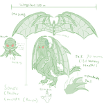 Cthulhu Design Reference Sketch by Sonomatic