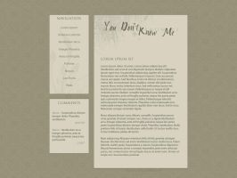 You Don't Know Me-Web Layout by nevermoregraphix