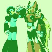 Megaman X and Zero. by DevintheCool