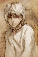 White hair boy by Evaty