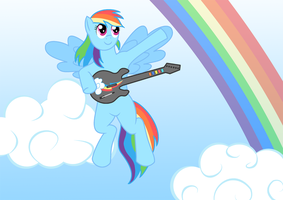 Guitar Hero Rainbow Dash by vanzer87