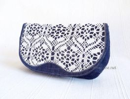 Denim and Old Lace by MalaMareHandmade