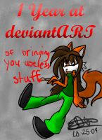 One Year at deviantART by Sushibeth