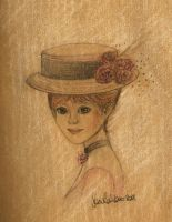 Girl with hat by FiabeSCa