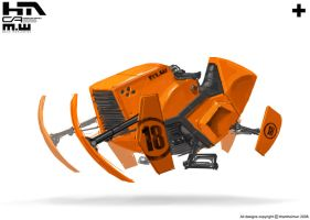 Orange bike 3 by NuMioH