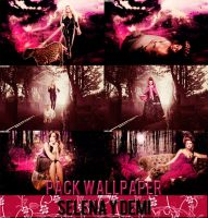 Demi y Selena Halloween Wallpaper's Pack by A8Belieber