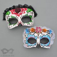 Leather Calavera Masks by Beadmask