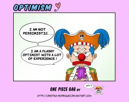 OPTIMISM - ONE PIECE GAG with BUGGY by Cristina-Rodriguez