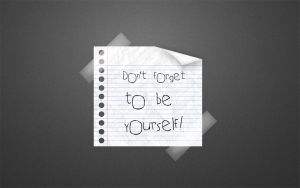 Be Yourself Widescreen Grey by afivos