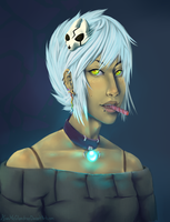 Human Kona bust by GuroiCandy