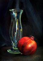Pomegranate and vase by kafine