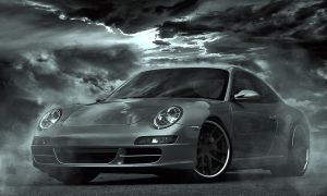 Porsche 911 dark B/W 2 by Cyclodextrose