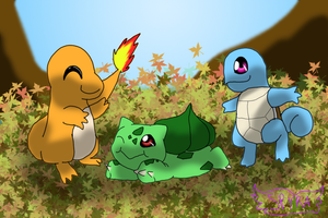 Kanto Starters! by SpyraEevee