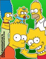 the Simpsons by razangraphics