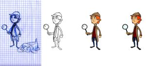 Boy Detective - Process by thefluffyshrimp