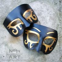 RA Eyes - leather costume mask by nondecaf