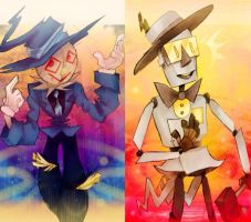 Scarecrow and tin woodman by Slitherbot