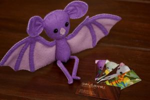 Custom Bat - Purple and Lavender by quirkandbramble