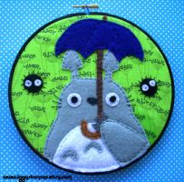 Totoro and Umbrella hoop by iggystarpup