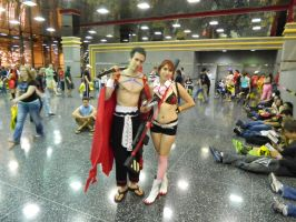 Cosplay couple, yoko and kamina by luigiswayze