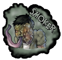 L4D Smoker Pin and Keychain by Lefuulei-Art