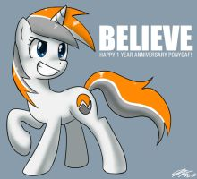 Happy 1 Year PonyGAF! by johnjoseco