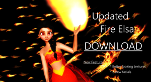 Updated Fire Elsa model for MMD DOWNLOAD! by IloveHersheysSoMuch