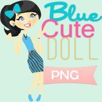 Cute Blue Doll png by Girlspng
