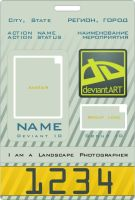 Deviant ID card Template by zenosnorth