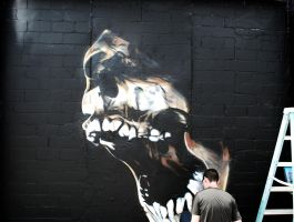 Artist with Skull by Morbid84