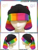 Colorful Rainbow Bunny Hat by AnimeNomNoms