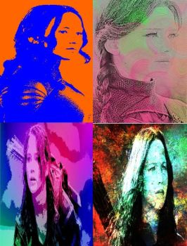 Katniss Everdeen In Pop Art-1 by freddie64