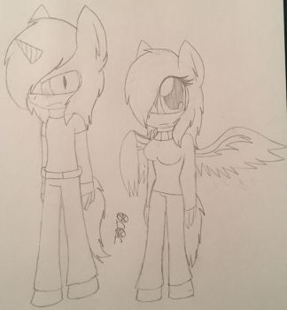 Alchemy The Unicorn And Vianna The Pegasus by XxMysticLoliKittenxx