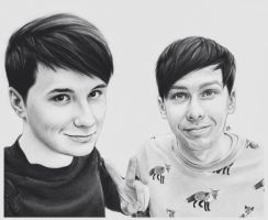 Dan and Phil by DraconaMalfoy