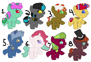 Baby pony adoptables OPEN by Deep-Fried-Love