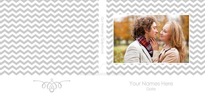 Chevron Guest Square Cover by Androla