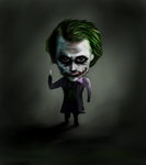 Daily Fan Art #17 Chibi Joker by EternallyIgnorant