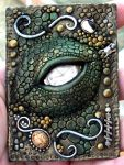 Dragon's Eye polymer clay by MandarinMoon