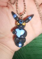 Umbreon Charm with Heart by Sara121089