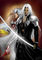 Sephiroth and Sesshomaru by WhiteYoukai