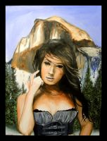 Megan Fox in front of HalfDome by thaddeous