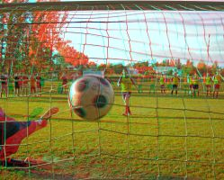 The goal 3D Anaglyph by zour