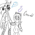 Jack and sister Esmerald by LTHVampiWolf
