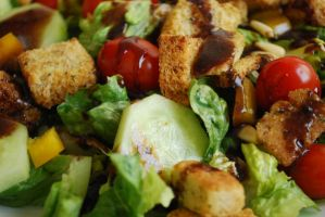 Salad w Croutons and Balsamic by BlueBluebutterfly05