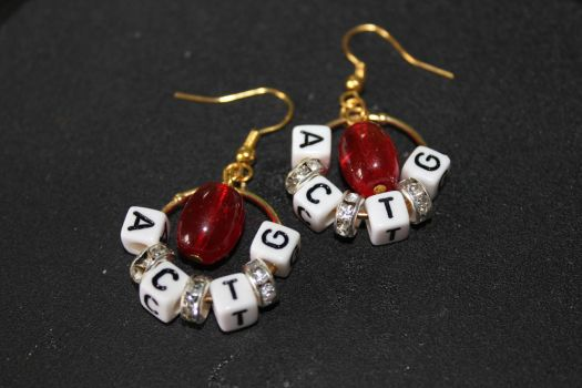 DNA Earrings by Goofycabal