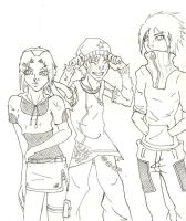 team 7 line art by ZirakAi