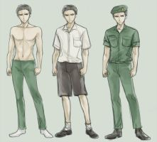 Thai student uniform : male by Lanzenritter