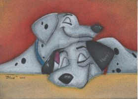 101 Dalmatians - Pastel by Art-Of-Blue